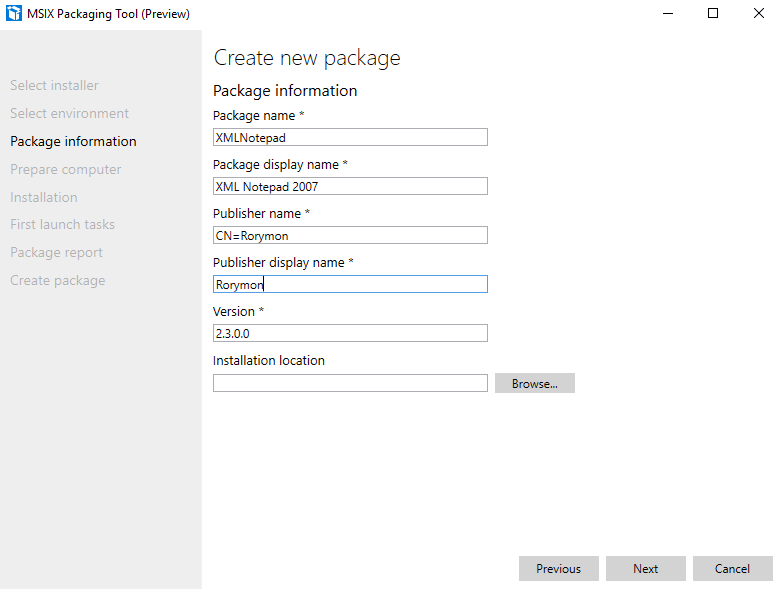 How to: Create an MSIX Package with the MSIX Packaging Tool